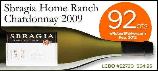 Sbragia Home Ranch Chardonnay 2009