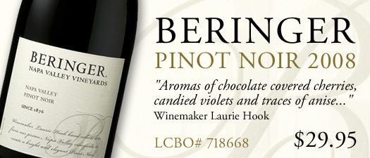 Beringer Napa Valley Vineyards Pinot Noir 2008