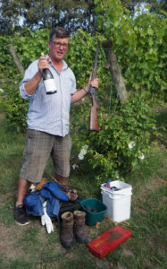 James Millton & all the necessary equipment of a vigneron