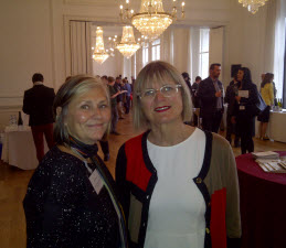 Janet Dorozynski and UK wine writer Jancis Robinson