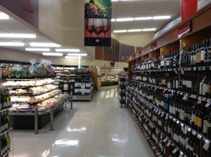 Supermarket wine section; Wellington, New Zealand