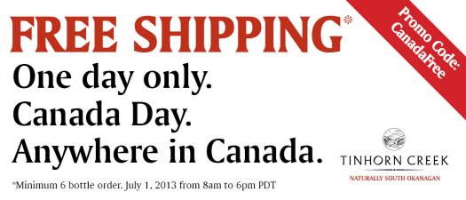 Tinhorn Creek - Free Shipping