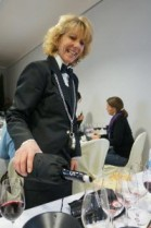 Sommelier Pouring in Montalcino
