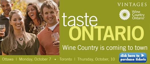 Taste Ontario - Ottawa & Toronto dates