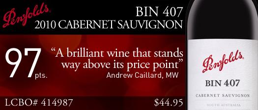 Penfold's Bin 407 Cabernet Sauvignon