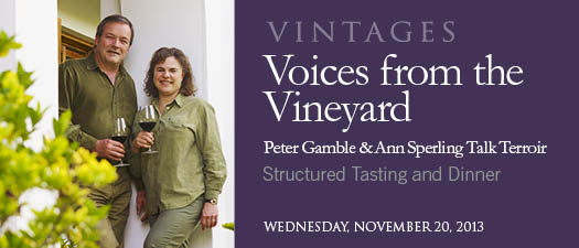 Peter Gamble and Ann Sperling Structured Tasting