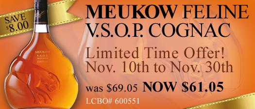 Meukow Feline VSOP Cognac
