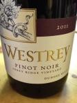 Westrey Wine Company Abbey Ridge Pinot Noir 2011