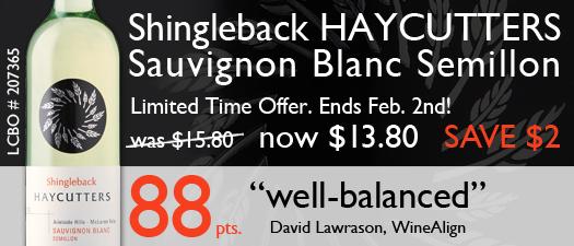 Shingleback Haycutters Sauvignon Blanc Semillon