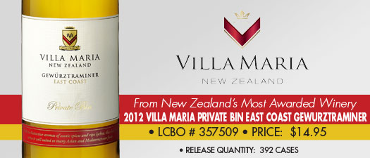 Villa Maria Private Bin East Coast Gewürztraminer 2012