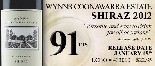 Wynns Coonawarra Estate Shiraz 2012
