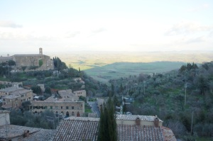 Looking south from Montalcino