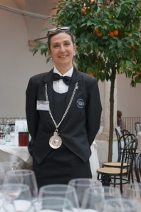 Sommelier Sabrina Biagini, one of the large Benvenuto brigade