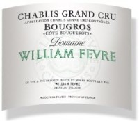 Domaine William Fèvre Chablis Bougros Côte Bouguerots Grand Cru 2011 label