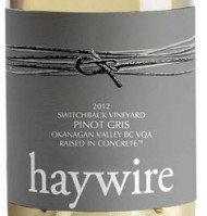 Haywire Pinot Gris label