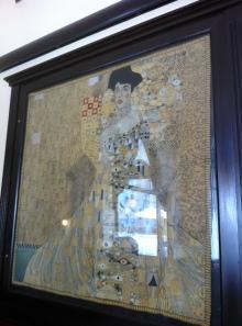 A Gustav Klimt original tapestry at Café Griensteidl