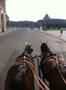 A Carriage ride through Vienna, passing the Hofburg Palace