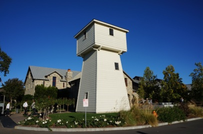 The iconic tower at Silver Oak