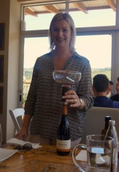 Carolyn Martin, Creation Wines, with her fancy double decanting device