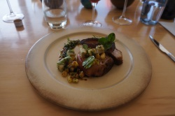 Lunch at Newton Johnson (pork belly is all the rage in South Africa, too)