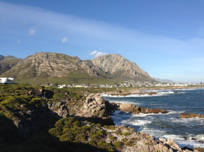 The coast by Hermanus, Walker Bay