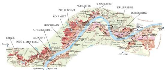 Wachau Map (Courtesy Domäne Wachau)