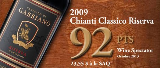 Castello Di Gabbiano Chianti Classico Riserva 2009