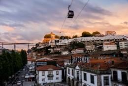Vila Nova de Gaia at sunset-3806