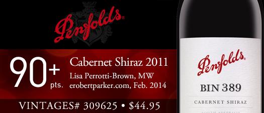 Penfolds Bin 389 Cabernet Shiraz 2011