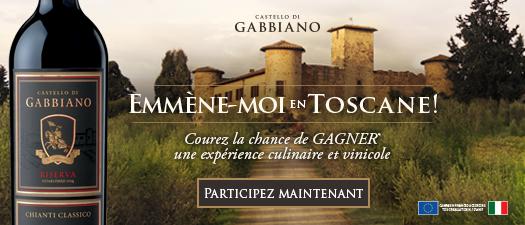 Emmène-moi en toscane! avec Gabbiano