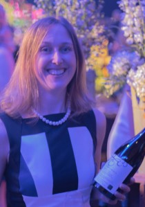 Emma Garner and her Thirty Bench Small Lot Pinot Noir 2012-9414