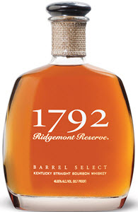 1792 Ridgemont Reserve Barrel Select Kentucky Straight Bourbon