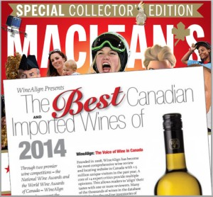 Maclean's - WineAlign Awards Results