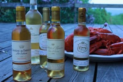 ...du vin sucré sur un fruit de mer !