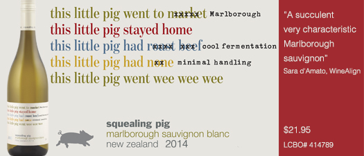 Squealing Pig Sauvignon Blanc 2014