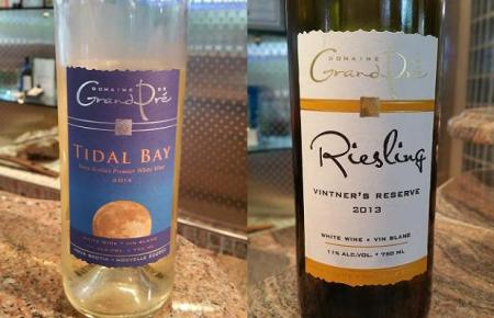 Domaine de Grand Pré Tidal Bay 2014 and Riesling Reserve 2013