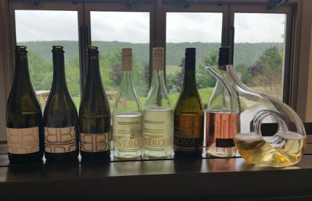 Tasting at Benjamin Bridge, Gaspereau Valley, Nova Scotia