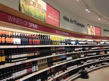 Spanish selection at LCBO Royal York Store