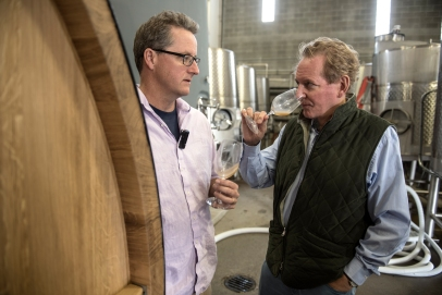 Winemaker Phil Mcgahan with Anthony von Mandl