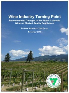 BC Wine Appellation Task Group: Wine Industry Turning Point