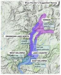 Okanagan Lake North - Rhys Pender's names