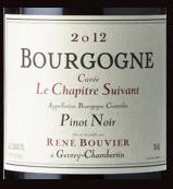 Domaine Rene Bouvier Bourgogne Pinot Noir Le Chapitre 2012