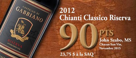 Castello di Gabbiano Riserva Chianti Classico 2012