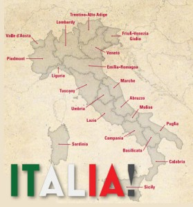 Map of Italy - Vancouver International Wine Festival