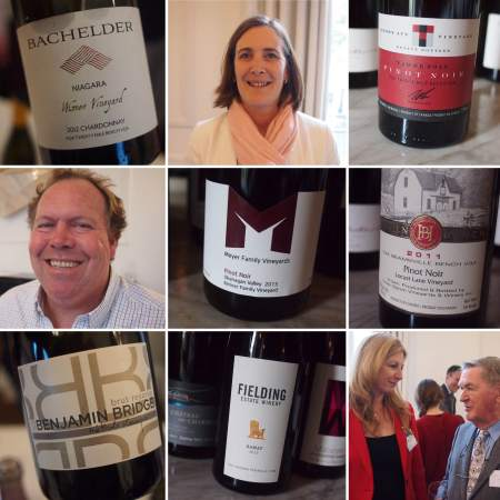 Collage from the Canada House tasting 2015