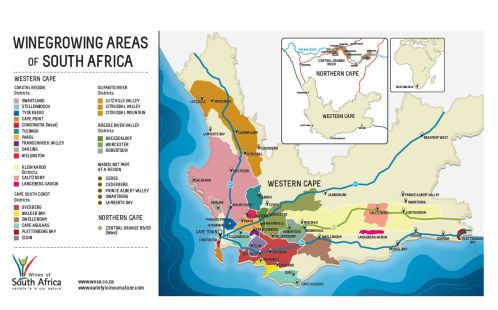 Winegrowing Areas of South Africa