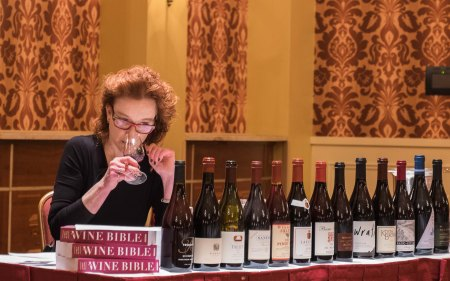 Karen MacNeil and her selection of representative California Pinot Noir-4982