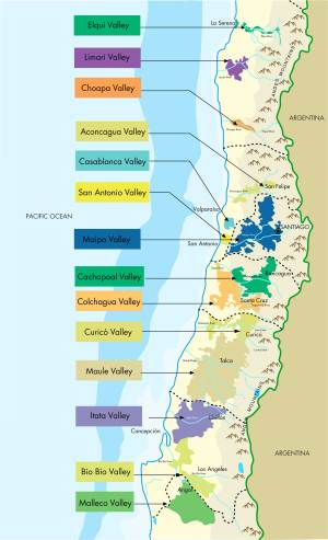 Chilean Wine Map