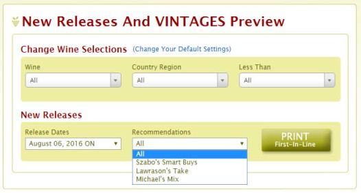 New Release and VINTAGES Preview