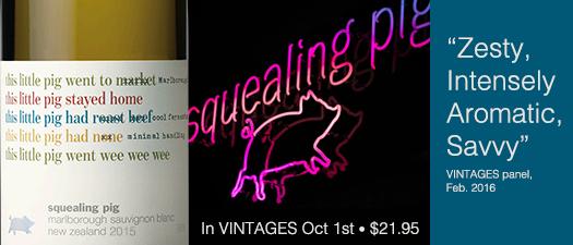 Squealing Pig Sauvignon Blanc 2015